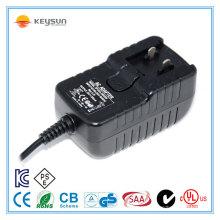 12V1000mA adaptador de ficha intercambiável / adaptador de ficha intercambiável 12v / 12v 1000ma fonte de alimentação acc
