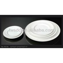 "Restaurant 10"" porcelain cupcake plates"