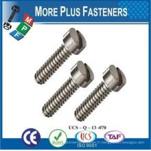 Fabriqué en Taiwan Stainless Steel Zinc Slotted Fillister Head Machine Screw