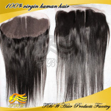 """Top Schönheit 13 """"x 4"""" drei Teil natürliche gerade billig indischen Remy Haar Ohr zu Ohr Spitze Frontal mit natürlichen Baby Haar"""