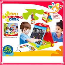 Plastic Study Desk For Kids,2 in 1 Baby Learning Table