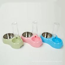 Estação da água do alimento para animais de estimação da garrafa e da bacia do gato para a tampa da bacia do cão do alimentador do gato