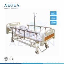 AG-BM107 adjustable 3 cranks movable medical furniture used hospital bed
