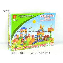 Neue Puzzle Haus Brief oder Nummer Gebäude Spielzeug Box