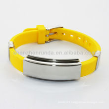 2014 yellow men's energy silicone bracelets