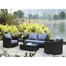 Outdoor-Wicker Möbel 4 Stück Chat Set