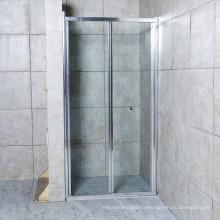 Wholesale New Design Tempered Bi-Fold Clear Glass Sliding Shower Screen
