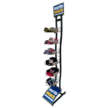 APEX Floor Standing Hats Advertising Metal Display Stand