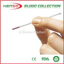 Tubos capilares de vidro heparinizado com sódio HENSO