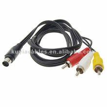Câble adaptateur 7 puces S-Video To 3 RCA RGB pour TV PC DVD