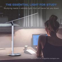 Hotel de alta calidad y hogar doble luz resouce protección de los ojos plegable lámpara de escritorio de estudio