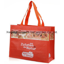 Custom Printed RPET Nwpp Laminated Tote Carrier Shopping Eco Bag