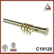 C19120 barra telescópica de la cortina, poste extensible de la cortina, finial de la barra de la cortina del metal, barra doble de la cortina