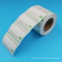 etiqueta imprimível personalizada da etiqueta do rolo do papel de impressão