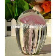цвет фул кристалл медузы хрустальный шар ,стеклянный шар с животным для подарок пользу