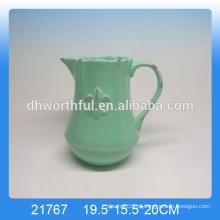 Jarro de leite de cerâmica de alta qualidade vitrificado jarro