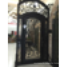 Last design double wrought iron entry door
