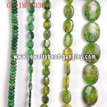 Bolas de piedra natural con color teñido para collar DIY