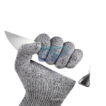 Anti Cut Level 5 Food Grade Cut Resistant HPPE+Fiberglass Meat Cutting Gloves