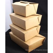 Kundengebundener Wegwerf-Kraftpapier-Papierkasten