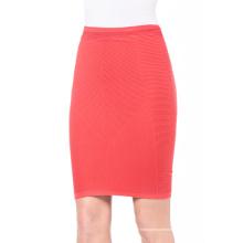 Mulheres de moda saia curta sem costura