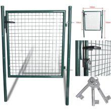 150 Cm X100 Cm Garman Estándar Acabado resistente de acero resistente Patio Puerta de jardín puerta verde