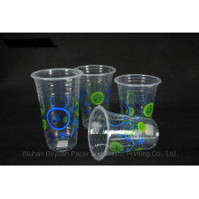 Disposable Transparent Plastic Cup of 95mm Upper Diameter