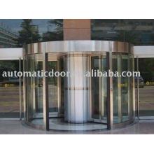 Porta giratória automática da coluna central