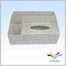 Artículos de oficina blanco metal polvo cubierto multifuncional papel higiénico caja titular