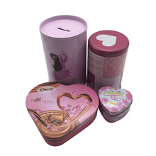 Baby Girl Gift Custom Pink Color Tin Can Chocolate Box Coin Box Wholesale