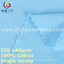 Baumwoll-Single-Jersey-Strickgewebe für Garment Shirt (GLLML377)