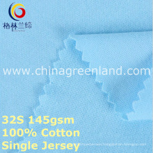 Cotton Single Jersey Knitted Fabric for Garment Shirt (GLLML377)