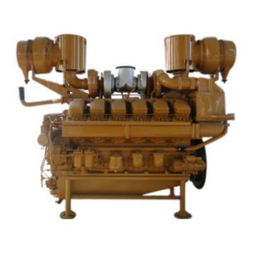 Motor de gás de cilindro 12V190 V com duplo eixo, escala de poder de 450KW-550KW