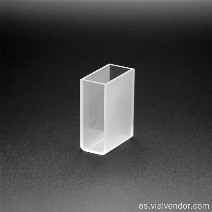 Glass Spectrophotometer Cuvette para laboratorio