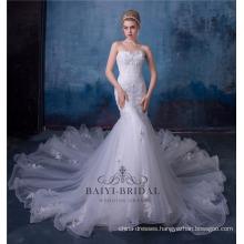3d Flower Lace Empire Sexy Mermaid Wedding Dress