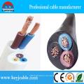 RV Rvv Kupfer 300 / 500V Flexible Flachmantel Kabel PVC Kabel
