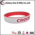 Bandas de pulso de borracha no bracelete individual feito sob encomenda do encanto do silicone da Duplo-Camada de China