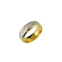Bague en acier inoxydable pas cher en gros, bijoux en or bague