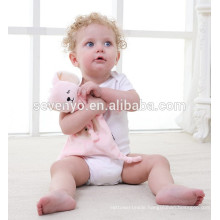 2018 popular Personalized Baby Starters Thank Heaven For Little Girls Bear Snuggle Buddy Baby Blanket Blankie