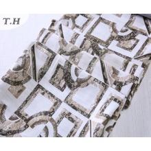 Patrón rectangular de tela de sofá Jacquard sin Chenille