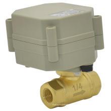 Dn8 Vannes à bille en laiton 2 voies 1/4 '' DC5V / 12V / 24V Mini vanne électrique