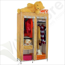 Single Canvas effect Wardrobe Clothes Storage Cabinet