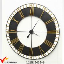 Ancienne grande horloge murale d'art en métal traditionnel antique pour décoration intérieure et extérieure
