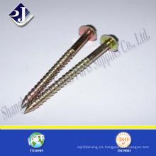 Tornillo de madera de zinc amarillo galvanizado DIN571