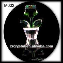 Decoração de flor de cristal linda