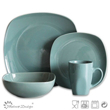 Blue Color Square Shape 16PCS Dinnerware Set