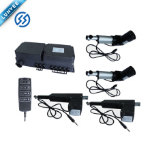 Sofa/automatic bed lifting linear actuator with control box for controlling 4 linear actuators
