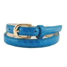 New ladies fashion imitation snake skin colorful PU belt
