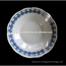 Cuenco colorido de cerámica grande con pintura de calcomanía