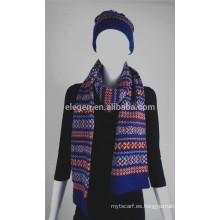 Mujeres Hombres Invierno / Otoño China fábrica Sombreros de punto de acrílico y conjuntos de bufandas